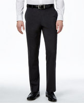 Alfani Men's Traveler Charcoal Solid Classic-Fit Pants, Only at Macy's