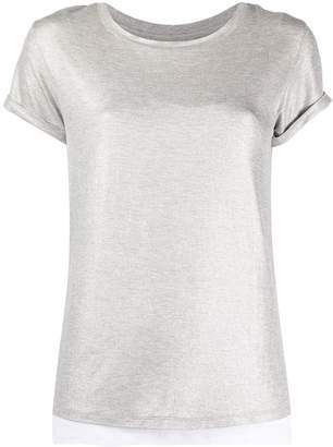 Majestic Filatures metallic layered T-shirt