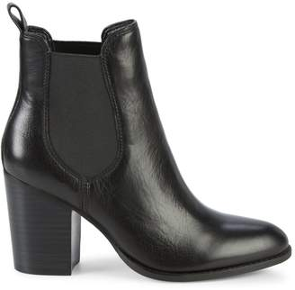 Splendid Highland Stack Heel Pull-On Leather Booties