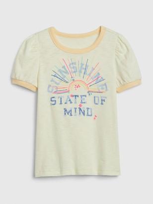 Gap Kids Puff-Sleeve Graphic T-Shirt