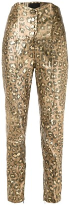 Andrea Bogosian Jaguar metallic tapered trousers