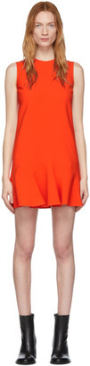Victoria Victoria Beckham Red Flounce Hem Shift Dress