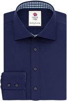 Thomas Pink Cardew Plain Slim Fit Button Cuff Shirt