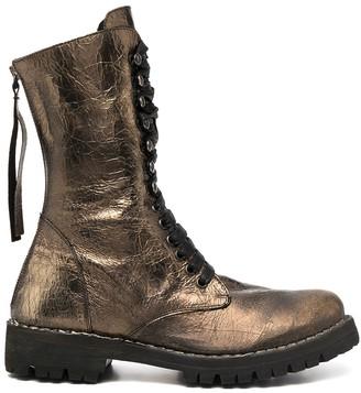 Masnada Metallic-Tone Lace-Up Boots