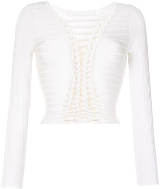 Dion Lee Central Braid Knitted Top