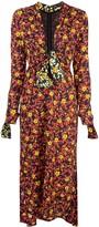 Proenza Schouler Wildflower V-Neck Dress