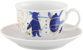 Vista Alegre Folkifunki Teacups & Saucers, Set of 4