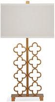 Bassett Mirror Aubrey Table Lamp, Gold Leaf