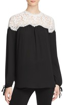 Karen Kane Lace Yoke Blouse - 100% Exclusive