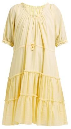 Loup Charmant Kassos Tiered Organic Cotton-gauze Dress - Womens - Yellow