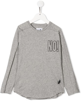 Nununu distressed long-sleeved T-shirt