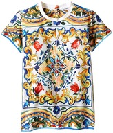 Dolce & Gabbana Escape Maiolica T-Shirt (Big Kids)