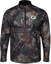 """Majestic Green Bay Packers NFL """"Woods"""" Men's 1/2 Zip Camouflage Sweatshirt"""