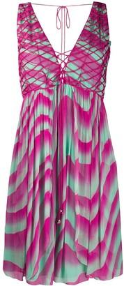 Just Cavalli Tie-Dye Shift Mini Dress