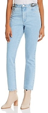 Blank NYC Cotton High-Rise Straight Jeans in Wild Wild West