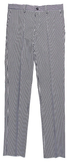 Primigi Pantalone Rigato/Seersucker Dress Pant (Big Kids) (Navy/White) - Apparel