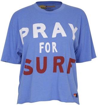 Aviator Nation Pray For Surf T Vintage Blue - XS