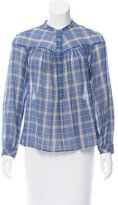 Rebecca Taylor Plaid Button-Up Top w/ Tags