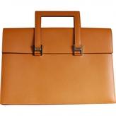 Hermes Orange Leather Handbag