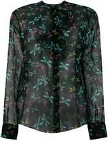 Rochas sheer printed blouse