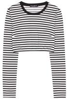 Dolce & Gabbana Striped Cotton Cropped Top