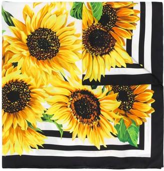 Dolce & Gabbana Silk Sunflower Scarf