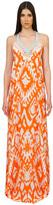 Caffe Swimwear - Halter Crossing String Long Dress In Orange