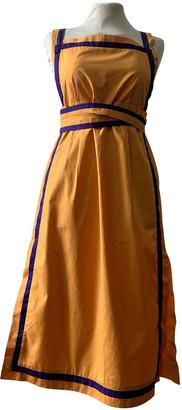 Christian Dior Yellow Cotton Dresses
