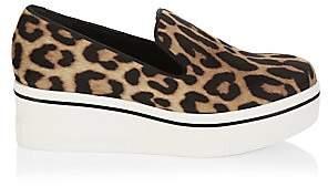 Stella McCartney Women's Leopard-Print Platform Wedge Sneakers