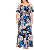 WESLEE ROSE Weslee Rose Short Sleeve Maxi Dress-Plus