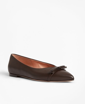 Brooks Brothers Leather Point-Toe Flats