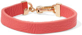 Marc by Marc Jacobs Textured-leather and gold-tone bracelet