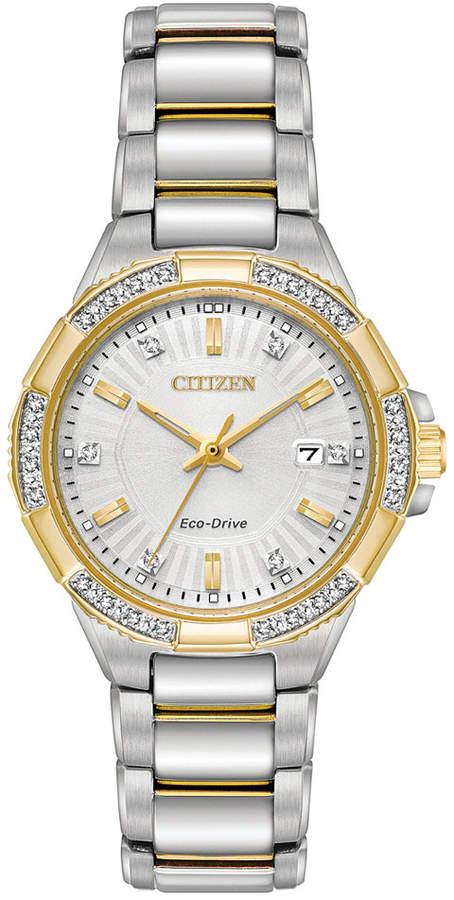 Citizen Eco-Drive Women's Riva Two-Tone Stainless Steel Bracelet Watch 30mm