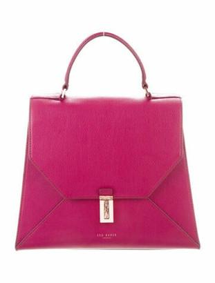 Ted Baker Leather Satchel Bag Purple