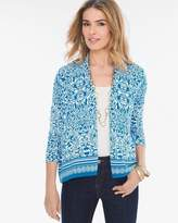 Chico's Blue Print Cardigan