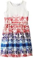 Us Angels Jacquard Sleeveless Dress w/ Full Skirt Girl's Dress