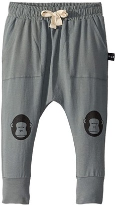Huxbaby HUXBABY Gorilla Patch Pocket Pants (Infant/Toddler) (Sage) Kid's Casual Pants