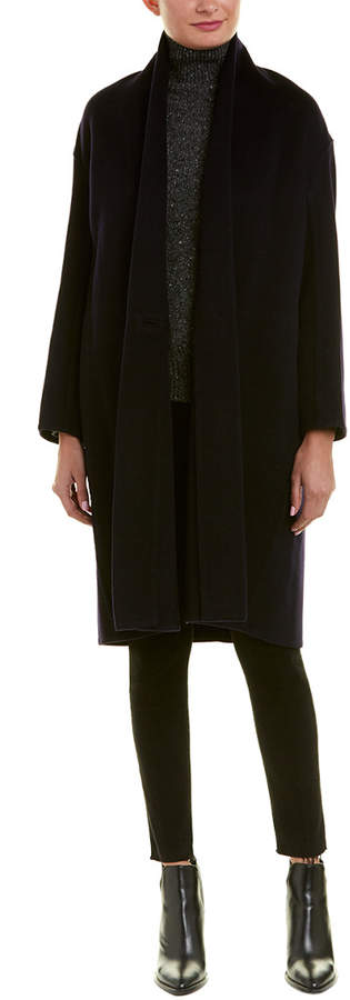 Vince High-Collar Wool-Blend Coat