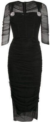 Dolce & Gabbana Tulle Midi Dress