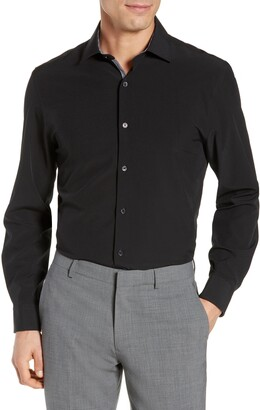 Work Rest Karma Trim Fit Solid Performance Stretch Dress Shirt