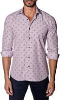 Jared Lang Anchor-Print Sport Shirt, Pink