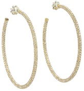 Juicy Couture Elegant Essentials - Large Pave Hoop Earrings (Gold/Crystal) - Jewelry