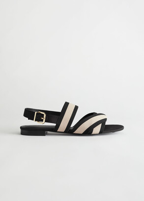 And other stories Striped Slingback Sandals