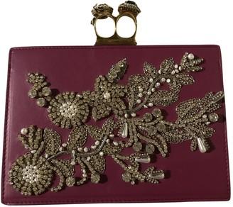 Alexander McQueen Purple Leather Clutch bags