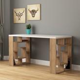 Bronx Inispollan Modern Desk Ivy Color (Frame): Oak