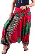 Villas - Dashiki Collection- 2 in 1 Harem Pants Hippie Boho Gypsy Beach Trousers Jumpsuit /DAP-005