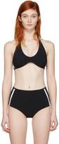 Ward Whillas Black Rhoda Halter Bikini Top