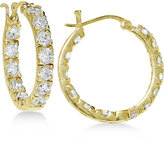 Giani Bernini Cubic Zirconia In and Out Hoop Earrings in 18k Gold-Plated Sterling Silver, Only at Macy's