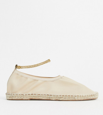 ASRA Exclusive Esme espadrilles in soft bone leather with anklet