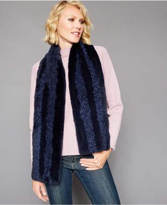 The Fur Vault Knitted Rabbit-Fur & Lamb-Fur Scarf
